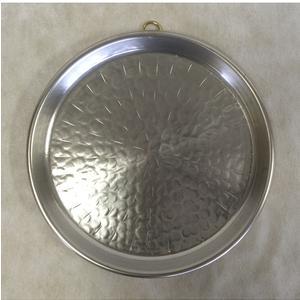 Teglia rotonda in Rame Martellato Ø22h3,0 cm con anello stagnata