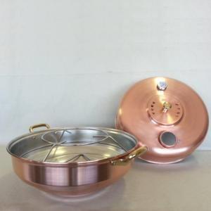 Forno in rame con termometro Idea Ø40xh27 cm ideale per cucinare pizze focacce primi e secondi piatti