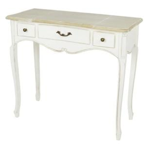 Consolle Toilette Tavolo in legno con 3 Cassetti CATERINA 90x40xh 80 cm bianco