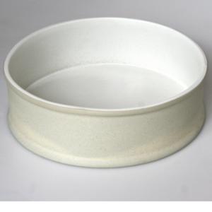 Teglia Rotonda in Grès resistente al calore 1240 gradi Ø30xh7 cm Ok!Bucci Colore Bianco
