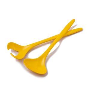 Posate per Insalata in melamina, 26 cm Colore: Giallo