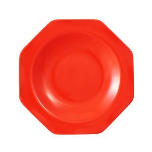 Piatto Fondo Ottagonale in melamina 22x22cm - 230g colore rosso