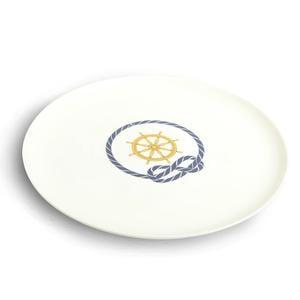 Piatto Pizza rotondo Timone in melamina Ø 31,5 cm Colore Bianco Avorio