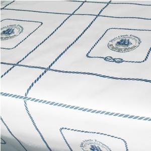 Tovaglia in cotone antimacchia 130x140 cm decoro veliero