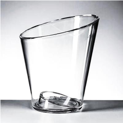 Secchiello Champagne una bottiglia diametro 20xh23 cm - 538 gr in PMMA adatto alle personalizzazioni Trasparente