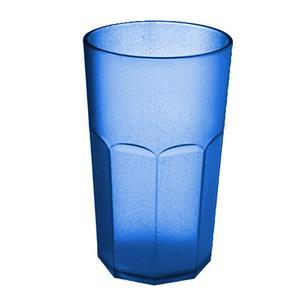 Bicchiere da Bibita Molato Alto Tall Tumbler Ø8,5xh14 cm - 500 cc in policarbonato Azzurro Trasparente