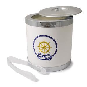 Secchio per Ghiaccio Timone con coperchio e pinza, diam. 16,3 cm / H 18 cm Colore: Bianco