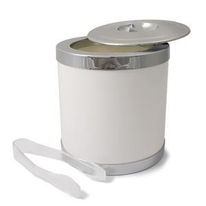 Secchio per Ghiaccio con coperchio e pinza, diam. 16,3 cm / H 18 cm Colore: Bianco