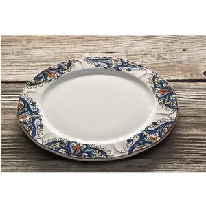 Piatto frutta in ceramica da Ø22 cm decoro Deruta | LUCE CERAMIC ...