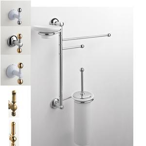 Asta attrezzata WC/BIDET ZACINTO 44x14xh60 cm Porta scopino in ceramica + porta asciugamani