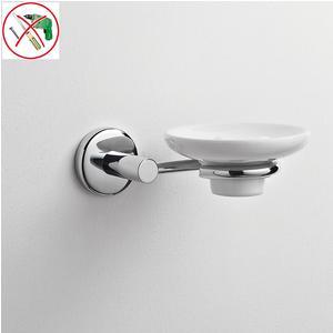 Porta sapone singolo adesivo in Ceramica IDRA 15x14,5xh6 cm fissaggio con adesivo adesivo Forte 3 M