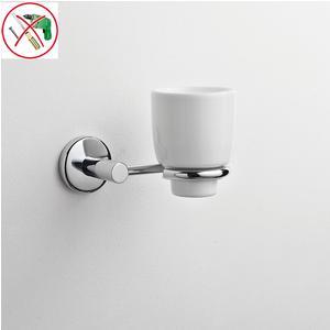 Porta Bicchiere in Ceramica adesivo Idra 13x12,5xh12 cm fissaggio ad incollo adesivo Forte