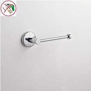 Portarotolo da bagno adesivo 18x6,5xh5,5 cm inox lucido fissaggio adesivo Forte 3 M