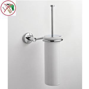 Porta Scopino Adesivo fissaggio a muro IDRA 17x16xh39 cm fissaggio adesivo Forte 3 M