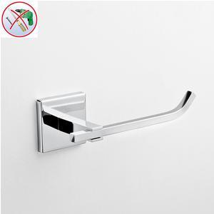 Porta carta igienica da bagno PLANO fissaggio adesivo 16,5x6,5xh5,5 cm finitura cromo