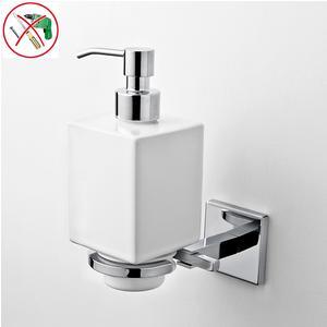 Porta Dispenser Adesivo Forte 3 M, in Ceramica Plano 9,5x12,5xh18,5 cm fissaggio ad incollo