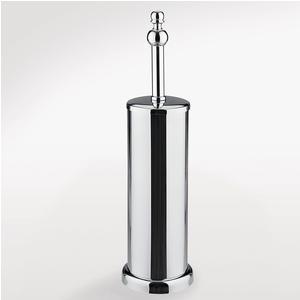 Porta scopino in Acciaio da terra OMEGA 9,5x9,5xh40 cm finitura cromo lucido