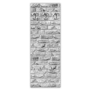 Appendiabiti da parete in Legno 49xh139 cm Street White decoro eseguito a mano in Italia