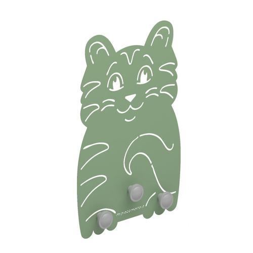 Appendiabiti design da parete maxi Cat in metallo verniciato 28x42x1 cm