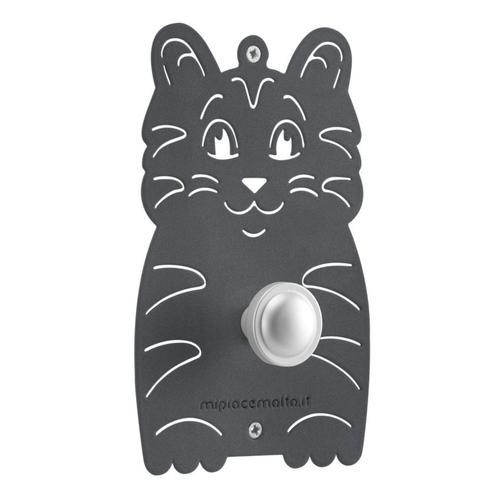 Appendiabiti design da parete mini Cat in metallo verniciato 13x20x1 cm