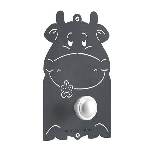 Appendiabiti design da parete mini Cow in metallo verniciato 13x20x1 cm