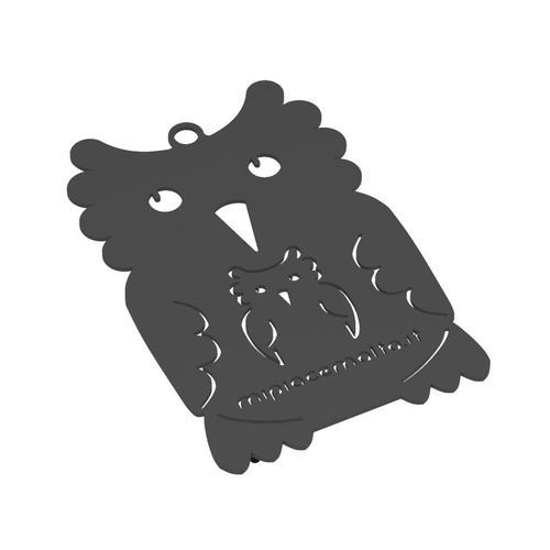 Sottopentola design Mamy Owl in metallo verniciato 13x10x2 cm