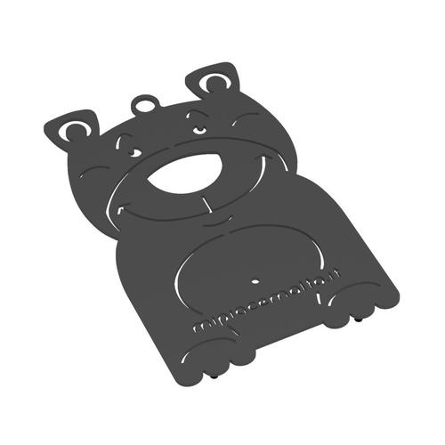 Sottopentola design Bear in metallo verniciato 13x10x2 cm