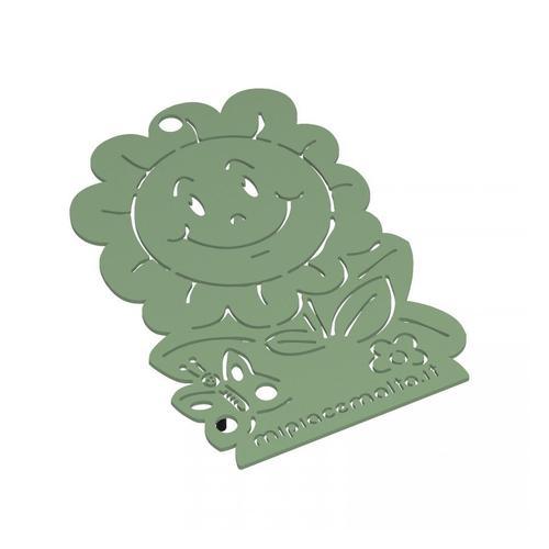 Sottopentola design Daisy in metallo verniciato 13x10x2 cm
