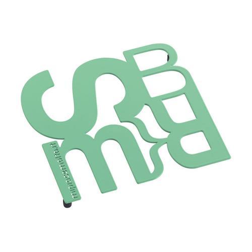 Sottopentola design Font One (consonanti) in metallo verniciato 13x10x2 cm