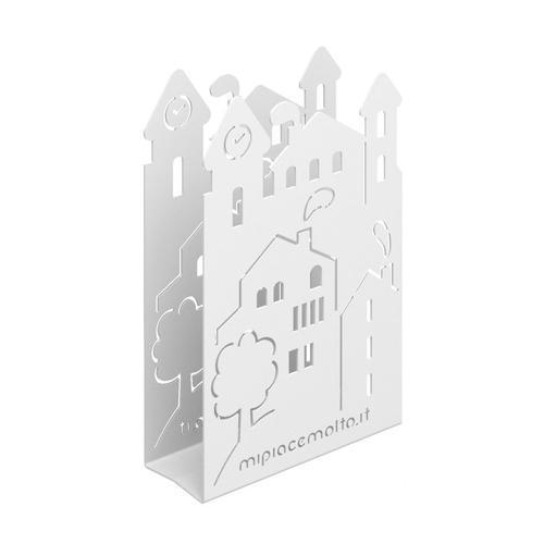 Portatovaglioli da tavola design Village in metallo verniciato 12x20x5 cm