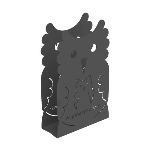 Portatovaglioli da tavola design Mamy Owl in metallo verniciato 12x20x5 cm