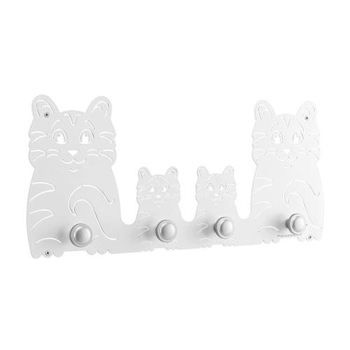 Appendiabiti design multi Cat in metallo verniciato 55x25x1 cm