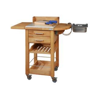 Carrello da cucina a servire 50x50xh93 cm in legno listellare di faggio