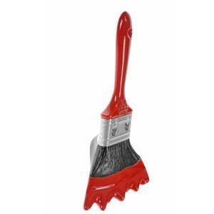 Appendiabiti design Pennello 11x13xh17 cm in resina decorata a mano colore rosso lucido carico max 3 kg