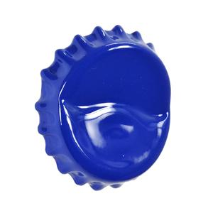 Appendino da parete Tappo Corona 8x5xh9 cm in resina decorata a mano Lucido Blu