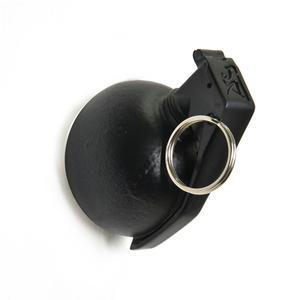 Appendino Portachiavi da parete MK3 Granata 6x8xh8 cm in resina decorata a mano nero opaco