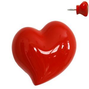 Appendiabiti da Parete On the Heart 7x5xh7 cm in Metallo e resina decorata a mano colore rosso