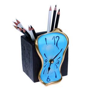 Orologio da Tavolo Portamatite 11x10xh9 cm in resina colorata a mano colore nuvule