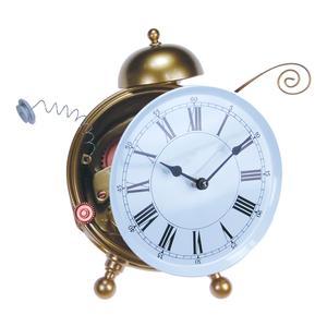 Orologio da Parete Contrattempo 14x23xh10 cm in resina colorata a mano oro