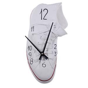 Orologio da Parete White Richie 15x10xh30 cm in resina colorata a mano e bianco