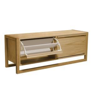 Scarpiera panca due porte New Est 120x38xh50 cm- peso 31 kg in legno colore legno di rovere