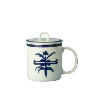 Tisaniere Mug in porcellana decoro ragno 2 pezzi CL 35 in porcellana bianca in lavabile in lavastoviglie