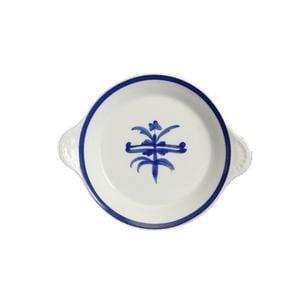 Tegamino per uova in porcellana decoro antico ragno Ø 19 cm in porcellana bianca in lavabile in lavastoviglie
