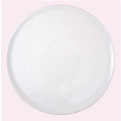Piatto da pizza in porcellana 33 cm con falda rinforzata modello Gorizia confezione 6 pezzi lavabile in lavastoviglie