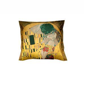 Gruppo 2 fodere per cuscino arredo - KLIMT Il Bacio - dimensioni cm. 40x40 - puro cotone di alta qualità- mano morbida - stampa digitale ad altissima risoluzione - chiusura con cerniera