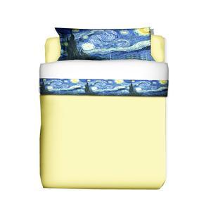 Parure Letto una piazza e mezza VAN GOGH-Notte Stellata 1 lenzuolo cm. 180x280 + 1 federa cm. 50x80 - Puro cotone di alta qualità