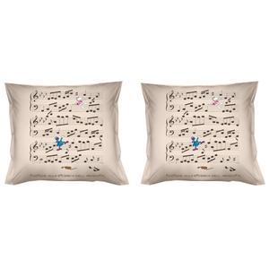 Federe per cuscini arredo 40x40 MORDILLO-ARMONIA II Parure due federe in Puro cotone di alta qualità 100%
