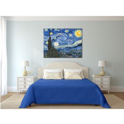 Pannello di arredo, Van Gogh-Notte Stellata dimensioni cm. 150x130 cm - puro cotone di alta - stampa digitale ad altissima risoluzione