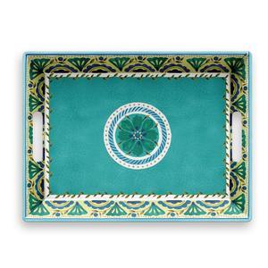 Vassoio rettangolare con maniglie London 50x37xh6,5 cm certificato per l'uso alimentare