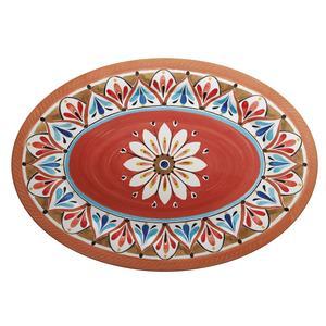 Vassoio ovale in melamina Madrid Piccolo 36x22 cm certificato per l'uso alimentare